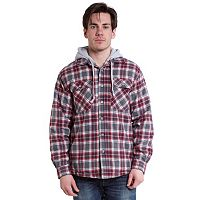 Men's Stanley Classic-Fit Plaid Hooded Fleece Shirt Jacket