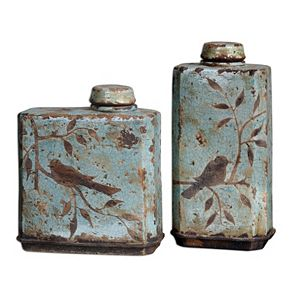 """""""Raya"""" Container Table Decor 2-piece Set"""