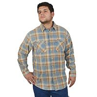 Men's Stanley Plaid Heavyweight Flannel Button-Down Shirt