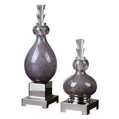 'Charoite' Bottles Table Decor 2-piece Set