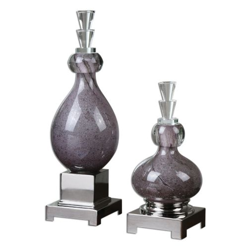 """Charoite"" Bottles Table Decor 2-piece Set"