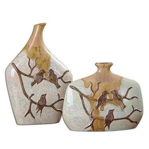"""Pajaro"" Vase 2-piece Set"