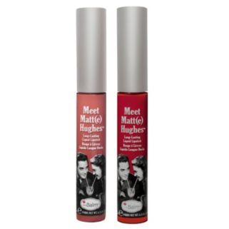 theBalm Meet Matt(e) Hughes Long-Lasting Matte Liquid Lipstick Duo