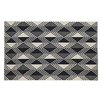 Kaleen Nomad Diamond Geometric Reversible Wool Rug - 9' x 12'
