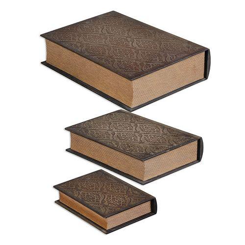 Script Box Table Decor 3-piece Set