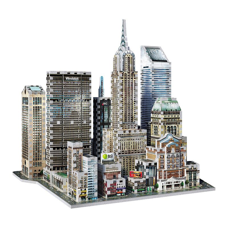 New York Collection Midtown East 875-Piece 3D Puzzle by Wrebbit, Brown Create all of New York's finest icons in 3D style with this impressive Midtown East puzzle by Wrebbit. Recreate Chrysler Building, MetLife Building, Citigroup Center, Sony Tower & Grand Central Station from Manhattan's Midtown East district Sturdy foam-backed puzzle pieces 875-piece Assembled size: 14.47 H x 15.55 W x 13.98 D Age: 14 years & up Manufacturer's limited warranty on defectsFor warranty information please click here Model no. 187266  Size: One Size. Color: Brown. Gender: unisex. Age Group: kids.