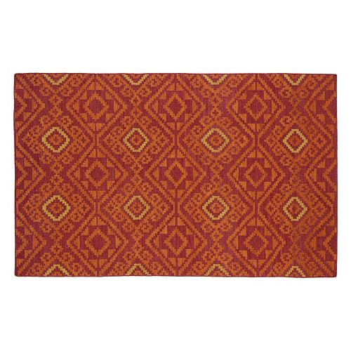 Kaleen Nomad Tribal Geometric Diamond Reversible Wool Rug