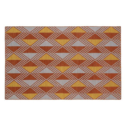 Kaleen Nomad Diamond Geometric Reversible Wool Rug