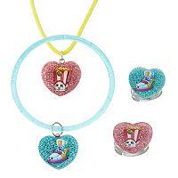Shopkins Sneaky Wedge & Poppy Corn Kids' Jewelry Set