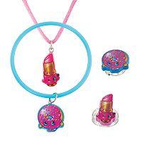 Shopkins Lippy Lips & D'Lish Donut Kids' Jewelry Set