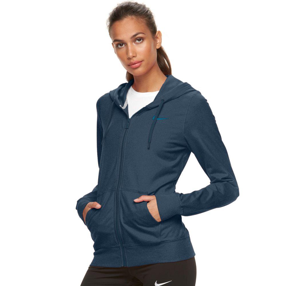 Nike Solid Jersey Full-Zip Hoodie