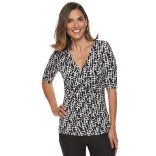 Women's Dana Buchman Printed Surplice Top