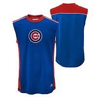 Boys 4-7 Majestic Chicago Cubs Slide Home Synthetic Muscle Tee