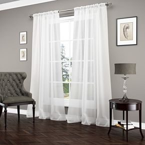 Vue 1-Panel Carrington Luxury Sheer Window Curtain