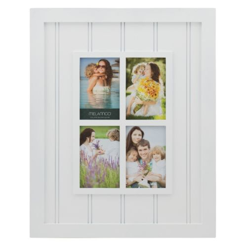 Melannco 4-Opening Windowpane Collage Frame