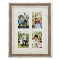 Melannco 4-Opening 4' x 6' Wood Grain Collage Frame