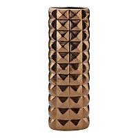 Elements Pyramid Square 22-in. Ceramic Vase