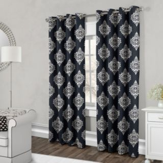 Exclusive Home 2-pack Damask Medallion Cotton Window Curtains