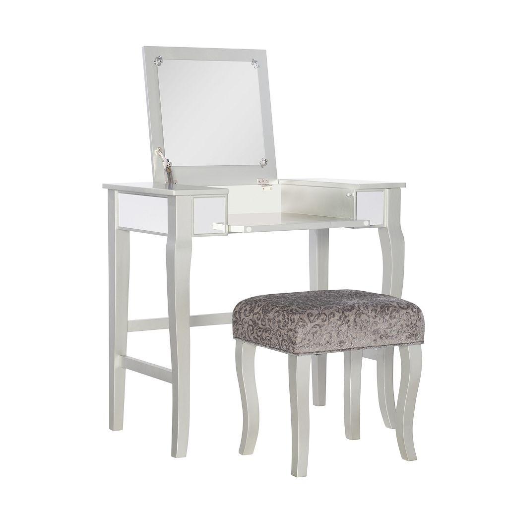 Linon Harper Vanity 2-piece Set