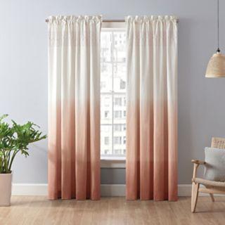Vue Signature 1-Panel Arashi Ombre Fashion Drapery Window Curtain