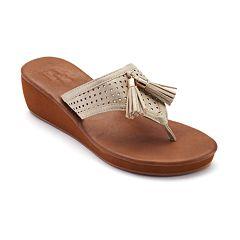 Dana Buchman Women's Wedge Thong Sandals