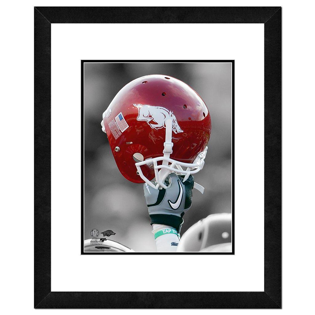 Arkansas Razorbacks Helmet Framed 11