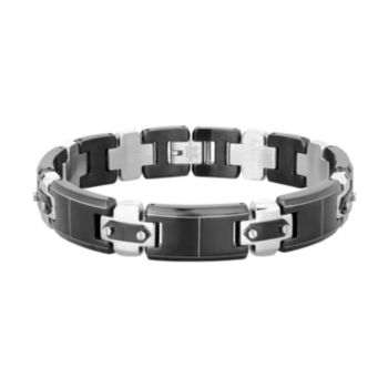 LYNX Men's Two Tone Stainless Steel Bracelet