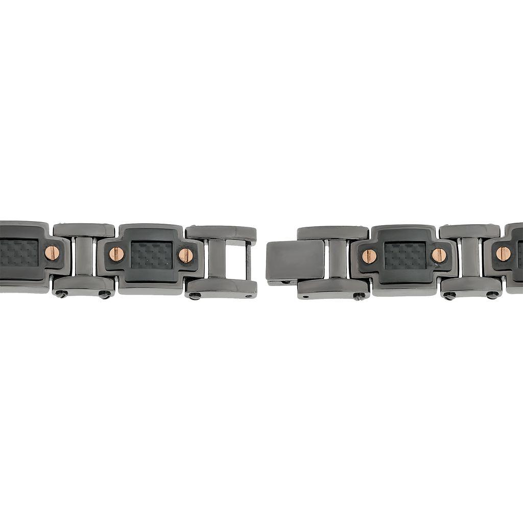 LYNXMen's Stainless Steel & Carbon Fiber Bracelet