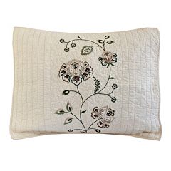 Always Home Flowering Vine Embroidered Sham