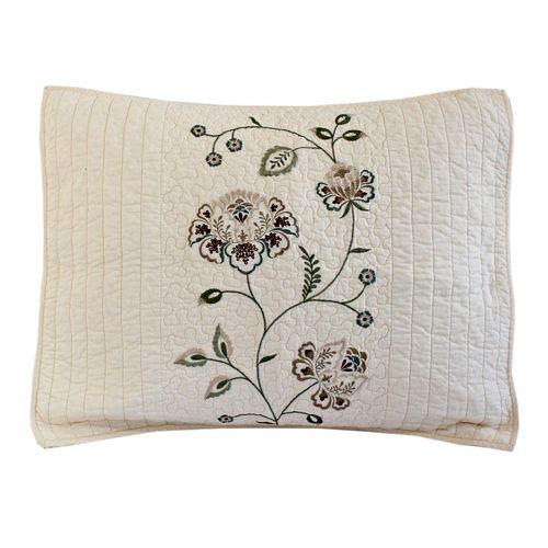 Always Home Flowering Vine Embroidered Sham