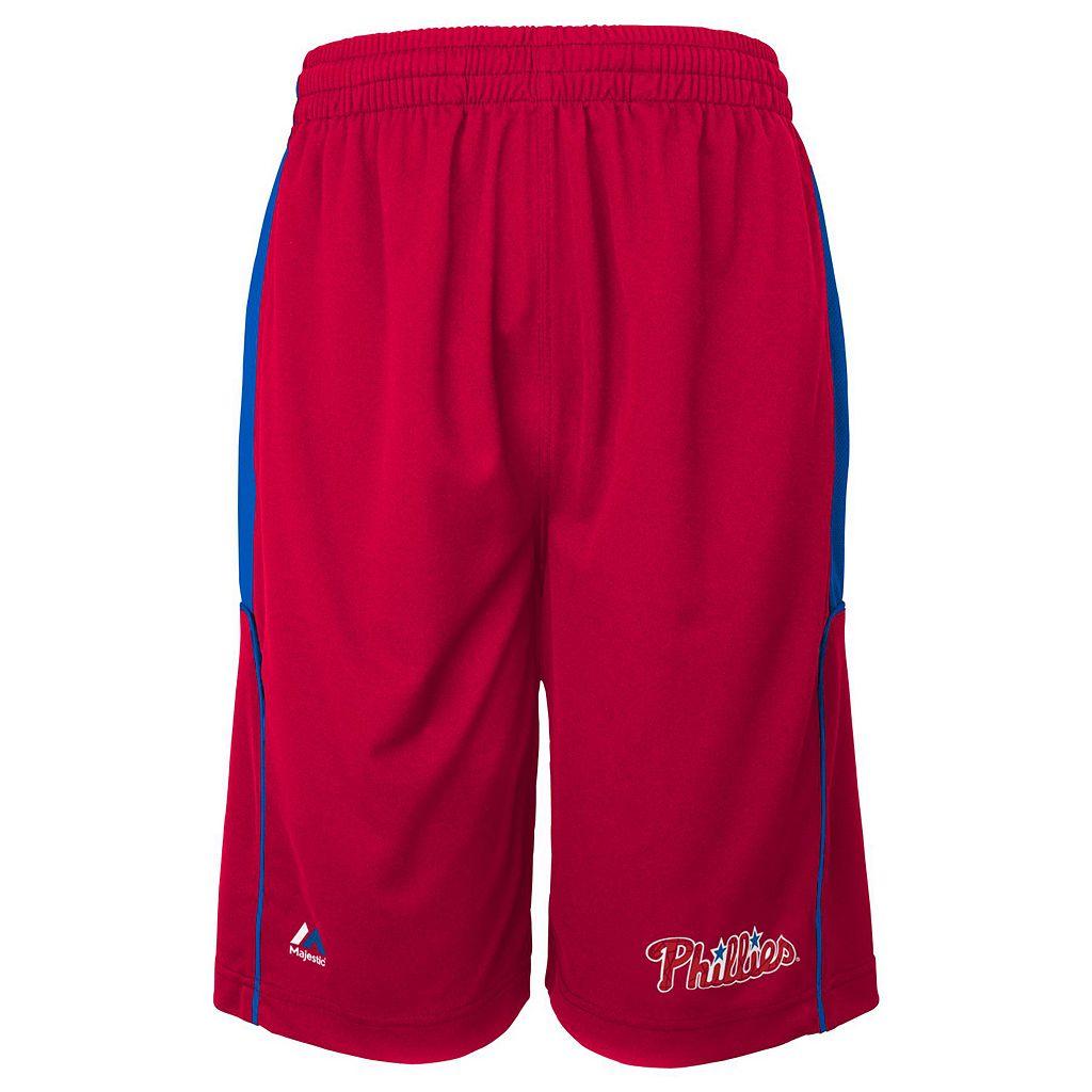 Boys 4-7 Majestic Philadelphia Phillies Batters Choice Shorts
