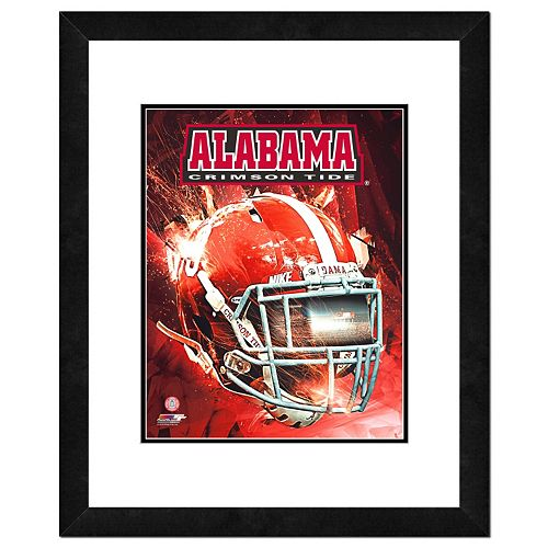 "Alabama Crimson Tide Helmet Framed 11"" x 14"" Photo"