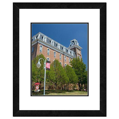 """Arkansas Razorbacks Building Framed 11"""" x 14"""" Photo"""