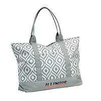 Logo Brand Illinois Fighting Illini Ikat Tote