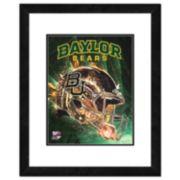 """Baylor Bears Helmet Framed 11"""" x 14"""" Photo"""