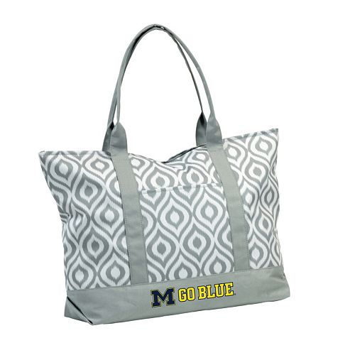 Logo Brand Michigan Wolverines Ikat Tote
