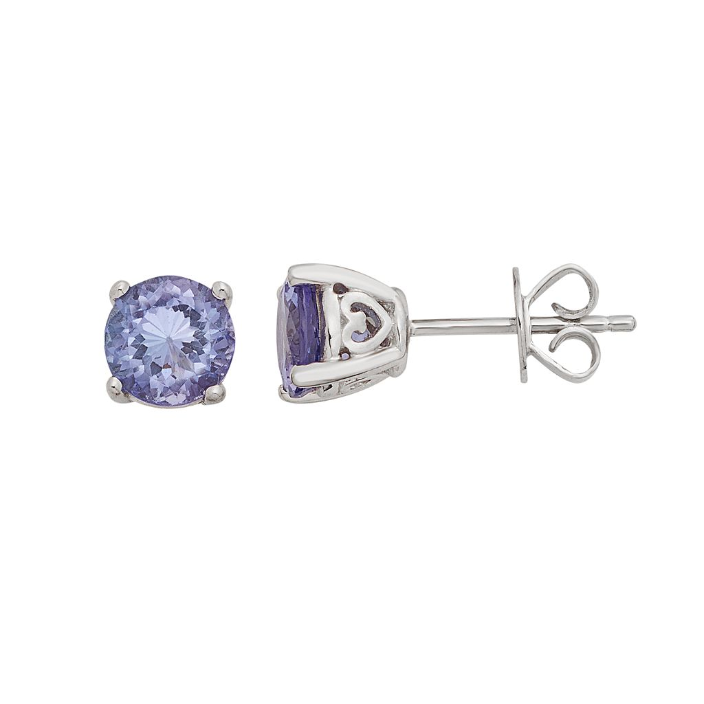Sterling Silver 4 mm Tanzanite Stud Earrings