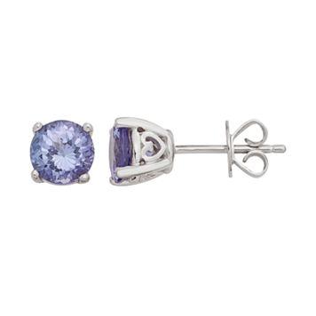 Sterling Silver 6 mm Tanzanite Stud Earrings