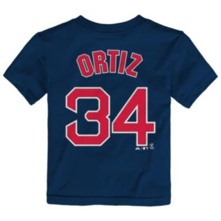Toddler Majestic Boston Red Sox David Ortiz Player Name and Number Tee