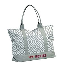 Logo Brand Virginia Tech Hokies Ikat Tote