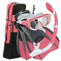 U.S. Divers 3-piece Diva/Island Dry/Trek Snorkel Set
