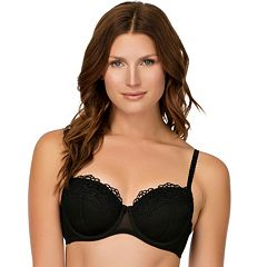 Affinitas Bra: Angel Lace Padded Demi-Bra - A1181