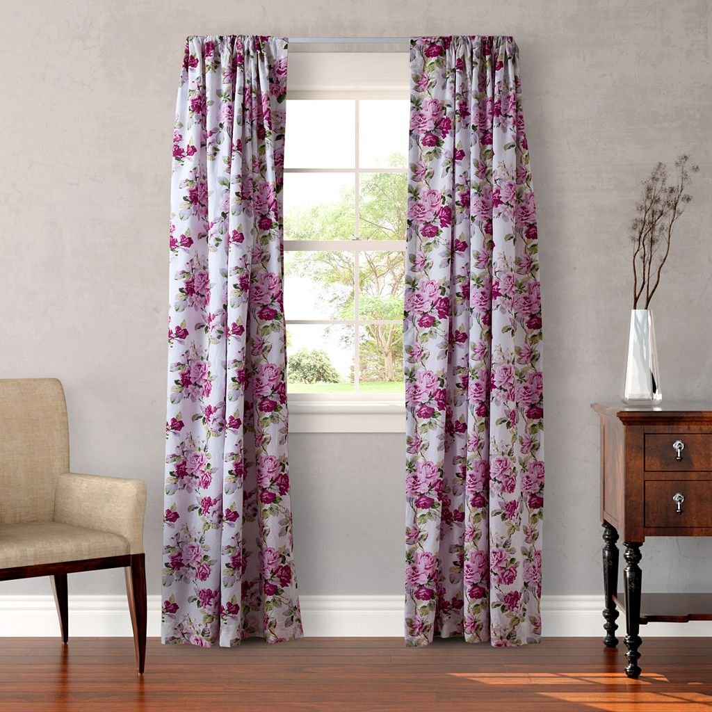 Laura Ashley Lifestyles 2-pack Lidia Curtains - 54'' x 87''