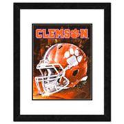 Clemson Tigers Helmet Framed 11' x 14' Photo