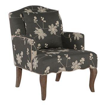 Linon Floral Arm Chair