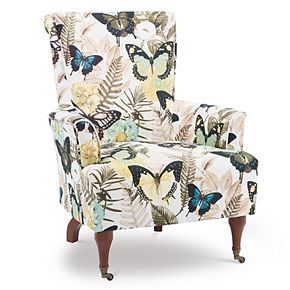 Linon Junnell Butterfly Arm Chair