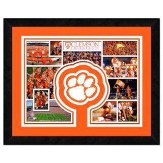 "Clemson Tigers Logo Framed 11"" x 14"" Photo"