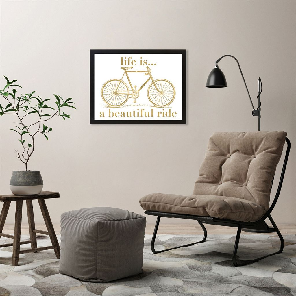 Americanflat ''Life is a Beautiful Ride'' Framed Wall Art