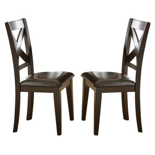 Branton Home Crosspointe Dining Chair 2-piece Set