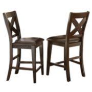 Branton Home Crosspointe Counter Chair 2-piece Set